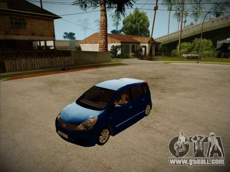 Nissan Note 2008 for GTA San Andreas left view