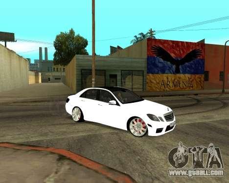 Mercedes-Benz E250 Armenian for GTA San Andreas wheels