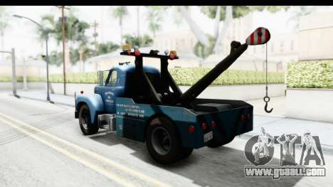 Mack B-61 1953 Towtruck v1 IVF for GTA San Andreas back left view