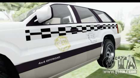 GTA 5 Canis Seminole Taxi Milspec for GTA San Andreas back view
