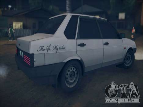 VAZ 21099 LT for GTA San Andreas inner view
