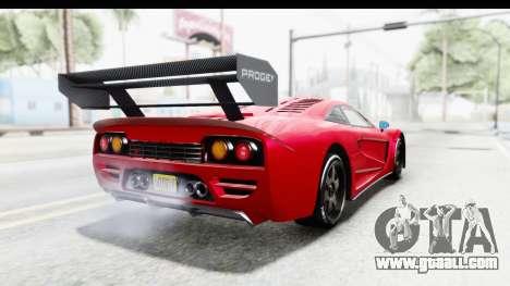 GTA 5 Progen Tyrus for GTA San Andreas back left view