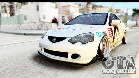 Acura RSX Type S 2002 Nisekoi Itasha for GTA San Andreas