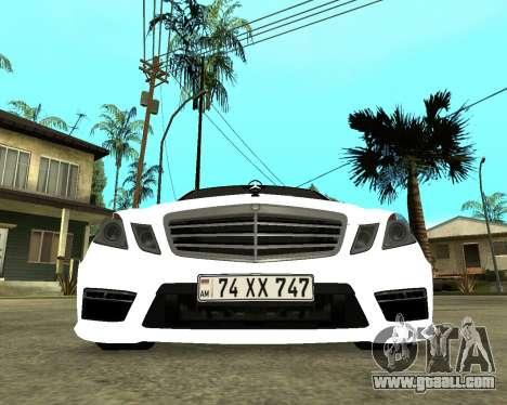 Mercedes-Benz E250 Armenian for GTA San Andreas left view