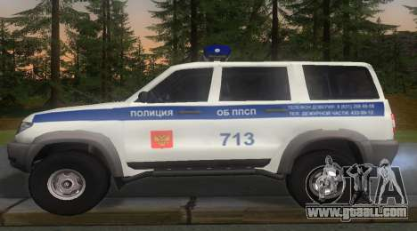 UAZ Patriot of the Police v1 for GTA San Andreas left view