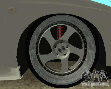 Subaru Impreza Armenian for GTA San Andreas back view