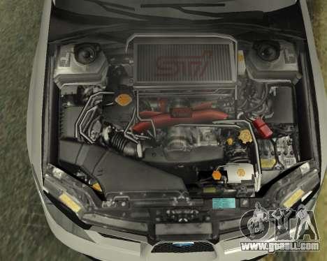 Subaru Impreza Armenian for GTA San Andreas upper view