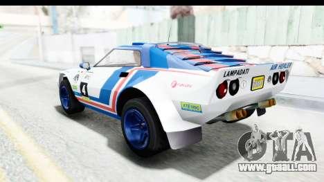 GTA 5 Lampadati Tropos Rallye No Headlights IVF for GTA San Andreas upper view