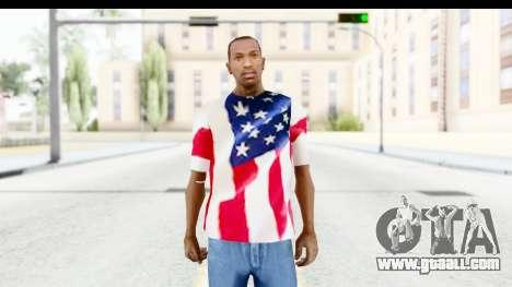 T-Shirt USA Flag for GTA San Andreas
