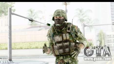 Croatian Soldier for GTA San Andreas