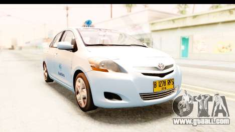 Toyota Vios 2008 Taxi Blue Bird for GTA San Andreas right view