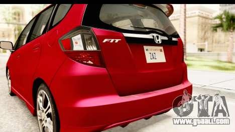 Honda Fit Sport 2009 for GTA San Andreas interior