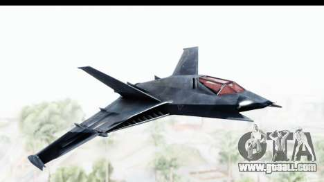 Batman Arkham Origins - Batwing for GTA San Andreas back left view