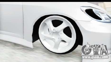 Honda Civic Vtec for GTA San Andreas back view