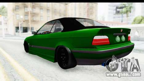 BMW M3 E36 Sloboz Edition for GTA San Andreas back left view