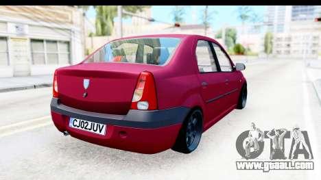 Dacia Logan Editie for GTA San Andreas back left view