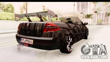 Renault Megane Spyder Full Tuning v2 for GTA San Andreas right view
