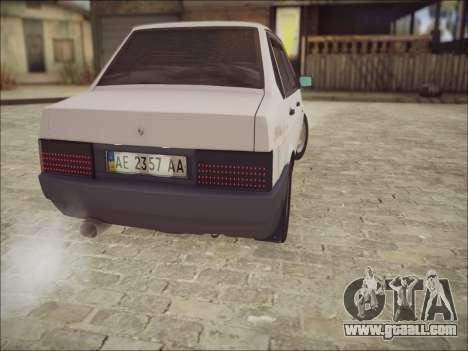 VAZ 21099 LT for GTA San Andreas back view