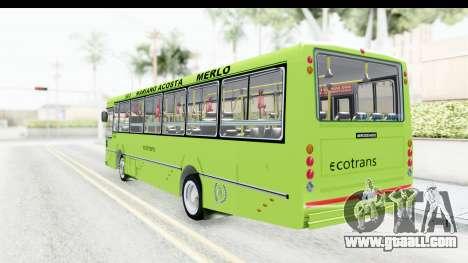 Bus La Favorita Ecotrans for GTA San Andreas right view