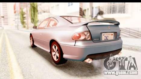 Pontiac GTO 2006 for GTA San Andreas right view