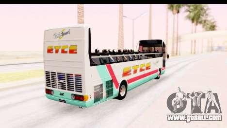 Bus Tours Dic Megadic 4x2 ETCE for GTA San Andreas back left view