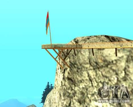 Armenian Flag On Mount Chiliad V-2.0 for GTA San Andreas third screenshot