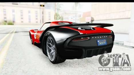 GTA 5 Pfister 811 IVF for GTA San Andreas bottom view