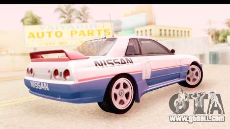 Nissan Skyline Group A for GTA San Andreas left view