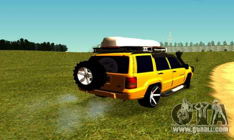 Jeep Grand Cherokee for GTA San Andreas back left view