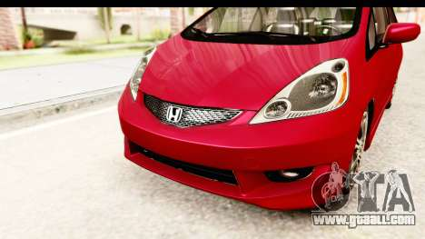 Honda Fit Sport 2009 for GTA San Andreas upper view