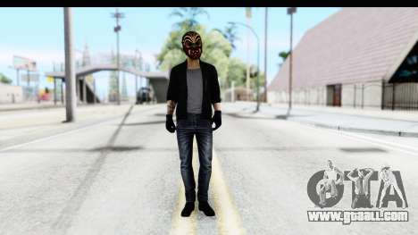 Payday 2 - Bodhi with Mask for GTA San Andreas second screenshot