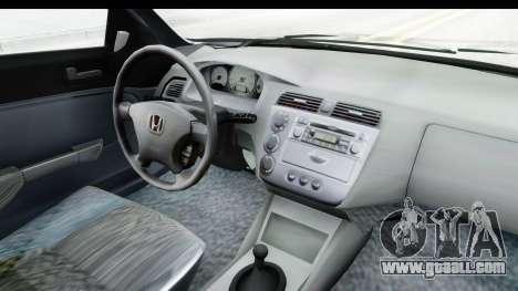 Honda Civic Vtec for GTA San Andreas inner view