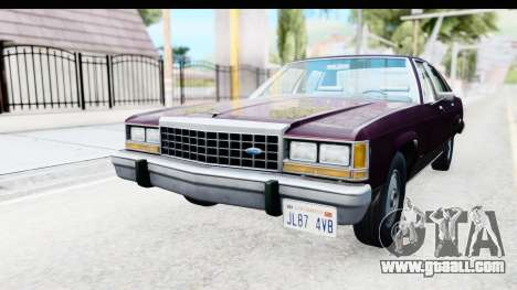 Ford LTD Crown Victoria 1987 for GTA San Andreas back left view