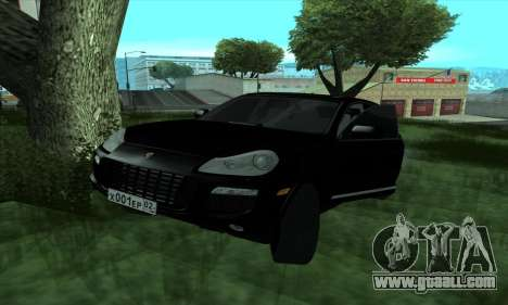 Porsche Cayenne for GTA San Andreas back left view