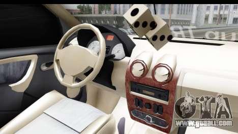 Dacia Logan Coil for GTA San Andreas inner view