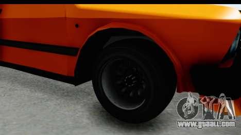 Zastava Yugo Koral 55 Race for GTA San Andreas back view
