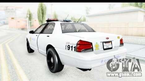 Sri Lanka Police Car v3 for GTA San Andreas left view