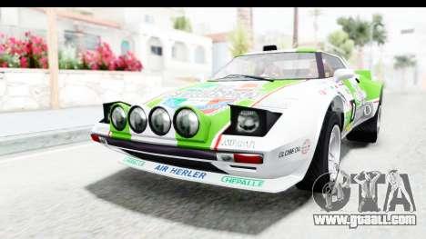 GTA 5 Lampadati Tropos Rallye No Headlights for GTA San Andreas bottom view