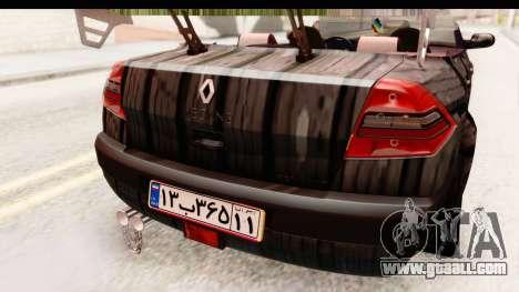 Renault Megane Spyder Full Tuning v2 for GTA San Andreas bottom view