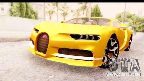 Bugatti Chiron 2017 v2.0 Updated for GTA San Andreas right view