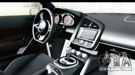Audi R8 V10 Plus 5.2 FSi 2013 LB Perfomance for GTA San Andreas inner view