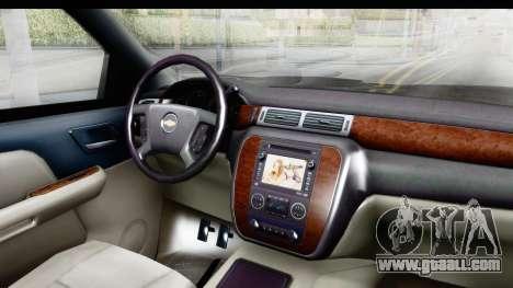 Chevrolet Silverado Duramax 2012 for GTA San Andreas inner view