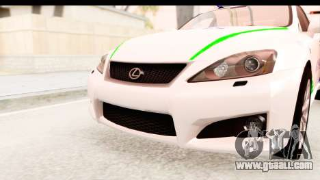 Lexus IS F PDRM for GTA San Andreas side view