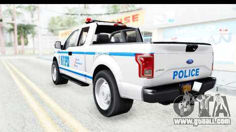 Ford F-150 Police New York for GTA San Andreas left view
