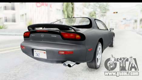 Mazda RX-7 4-doors Fastback for GTA San Andreas back left view