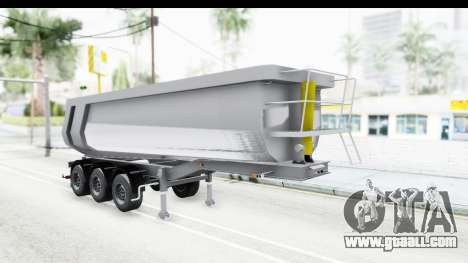 Trailer Volvo Dumper for GTA San Andreas back left view