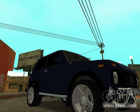 Niva 2121 Armenian for GTA San Andreas back view