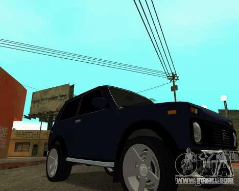 Niva 2121 Armenian for GTA San Andreas back view
