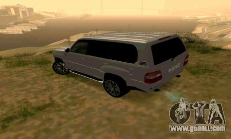 Toyota Land Cruiser 100 for GTA San Andreas back left view