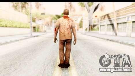 Left 4 Dead 2 - Zombie T-Shirt for GTA San Andreas third screenshot